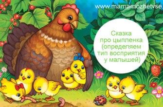 Сказка про цыпленка для определения типа восприятия у малышей