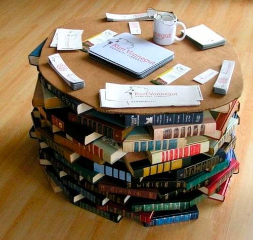 Что можно сделать своими руками в домашних условиях: журнальный стол из книг