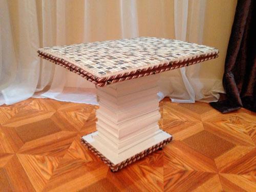Что можно сделать своими руками в домашних условиях: столик из книг