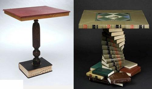 Что можно сделать своими руками в домашних условиях: журнальный столик из книг