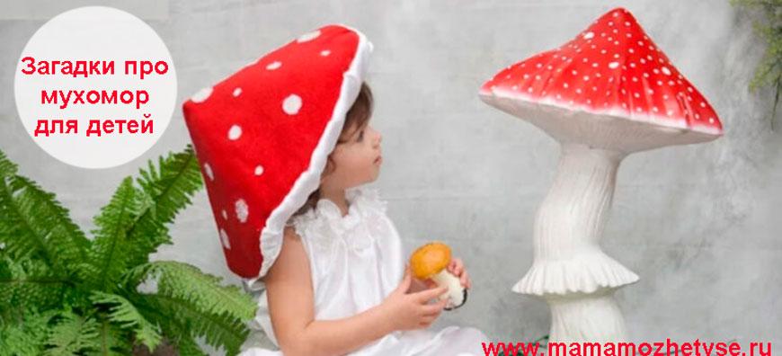 Загадки про мухомор для детей
