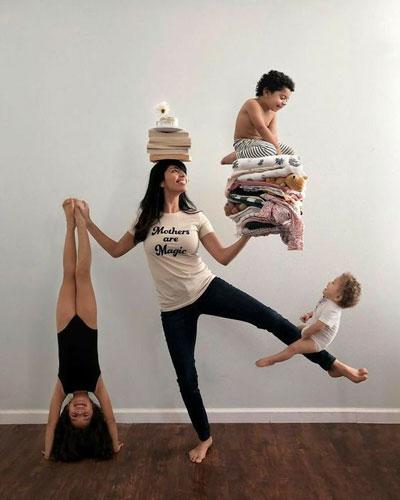мама с детьми дома