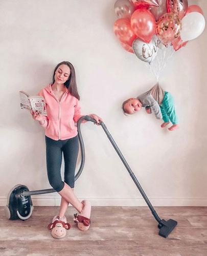 мама с ребенком дома 1