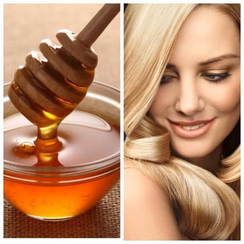 как осветлить волосы медом