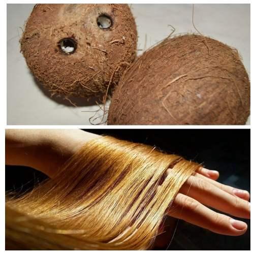 ламинирование волос кокосовым молоком