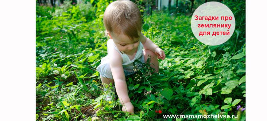 Загадки про землянику для детей