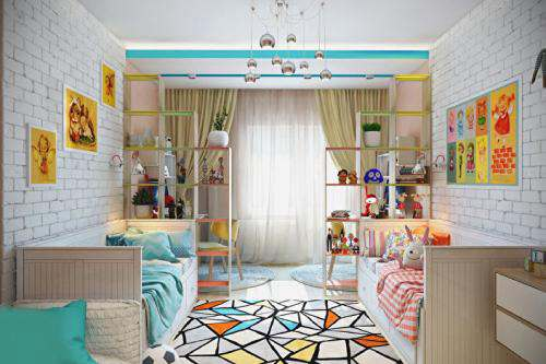 детские комнаты разнополых детей_11