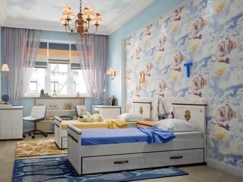 детские комнаты разнополых детей_23