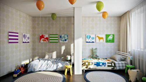 детская комната для детей разнополых детей_31
