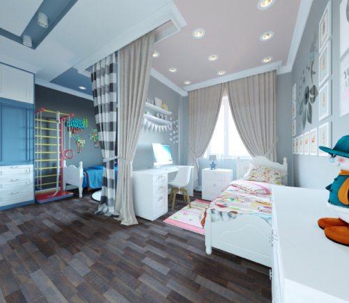 детские комнаты разнополых детей_7