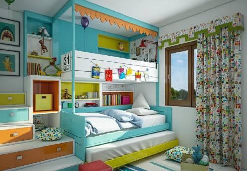 детские комнаты разнополых детей_9
