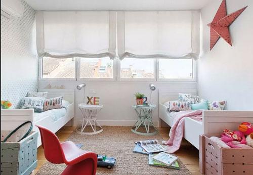Детские комнаты для разнополых детей разного возраста 13