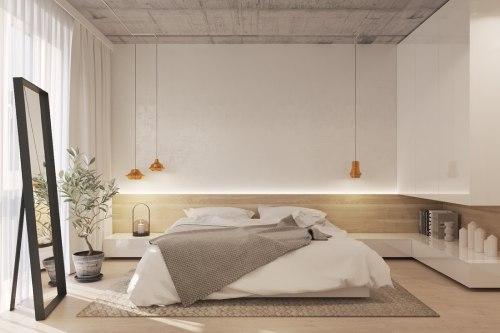 спальня в стиле минимализм_11