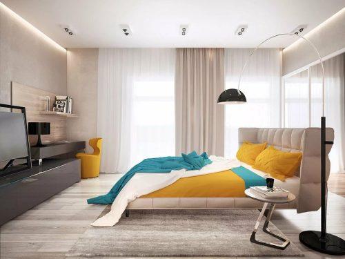 спальня в стиле минимализм_16