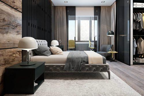 спальня в стиле минимализм_18