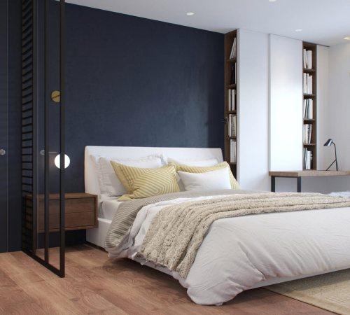 спальня в стиле минимализм_29