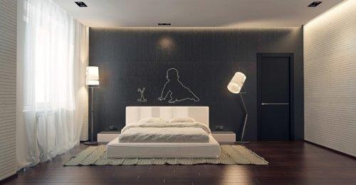 спальня в стиле минимализм_34