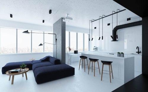 спальня в стиле минимализм_8
