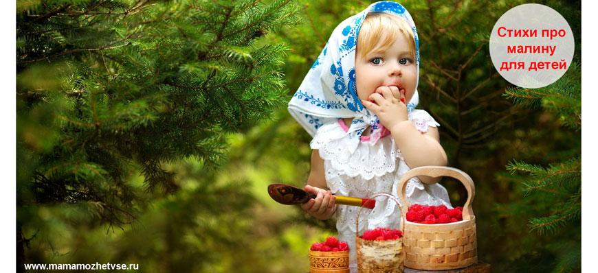 Стихи про малину для детей