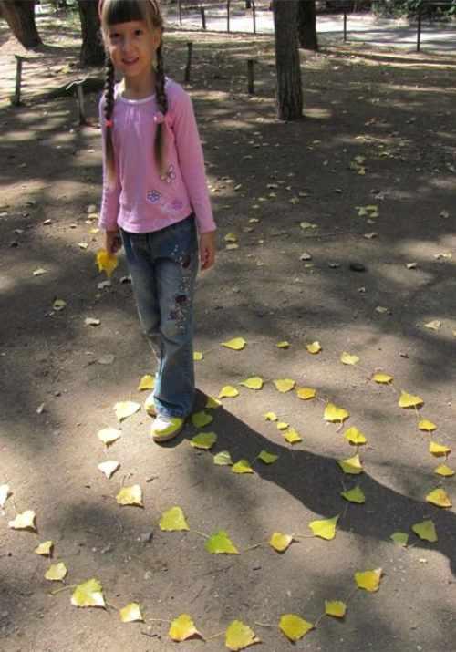 прогулки детей осень