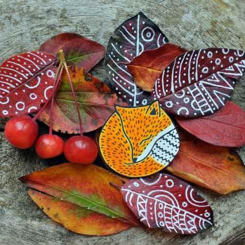 осенние занятия расписываем листья