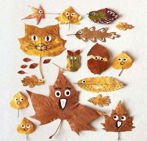 осенние занятия расписываем листья_1