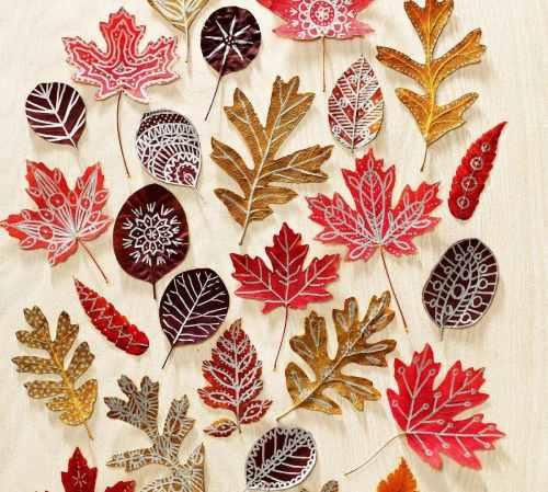 осенние занятия расписываем листья_2
