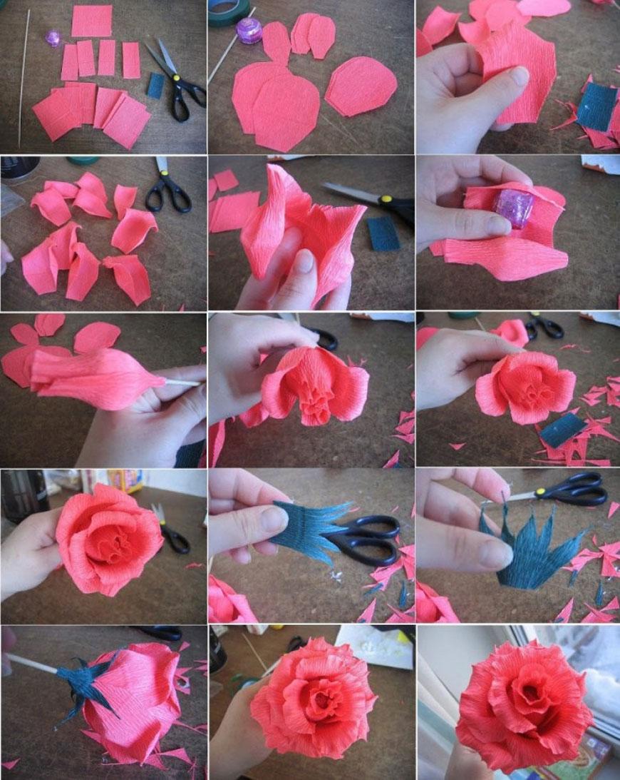 цветы из гофрированной бумаги 5