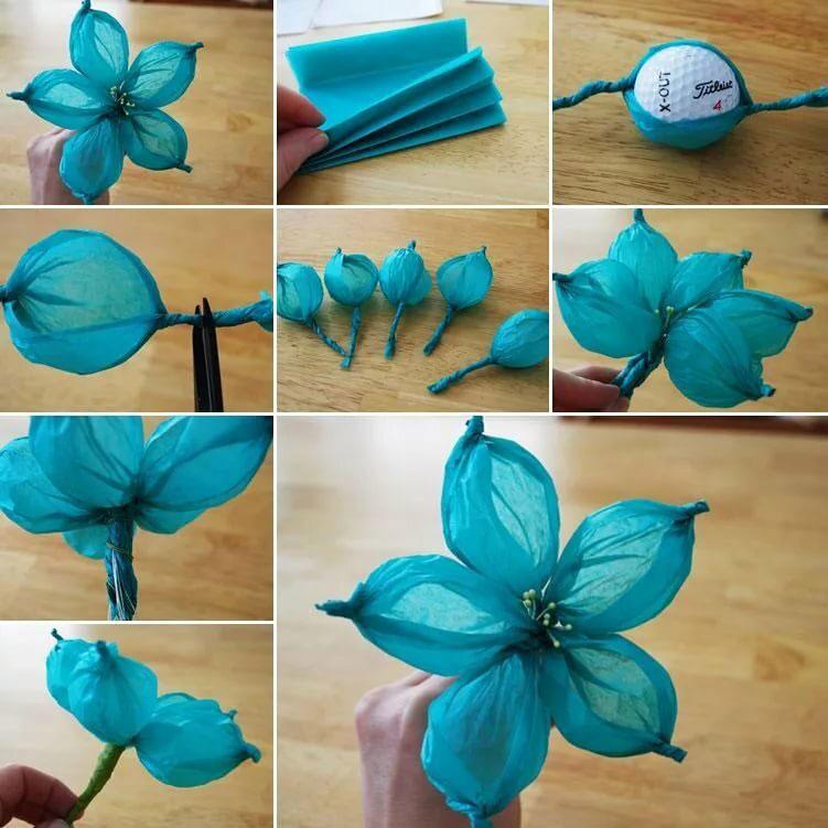 цветы из гофрированной бумаги 4