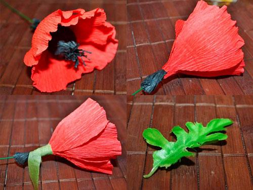 цветы из гофрированной бумаги 3
