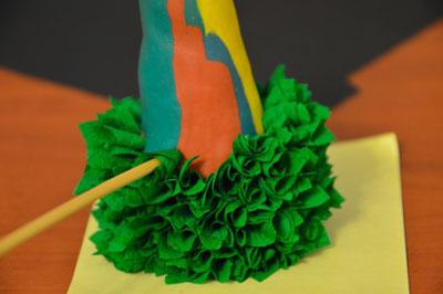 как сделать объемную поделку из гофро бумаги