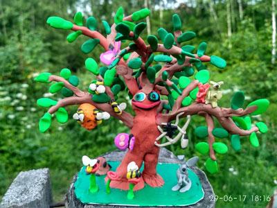 идеи детских поделок из пластилина