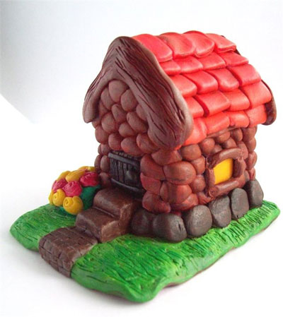 идеи для поделок из пластилина в детском саду домики