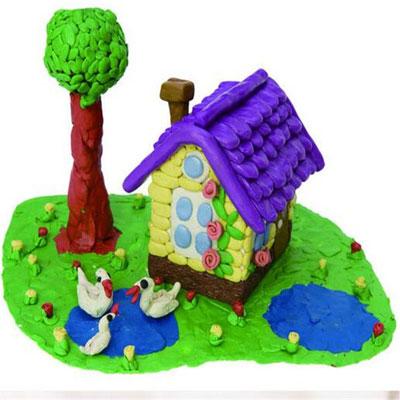 идеи для поделок из пластилина: домики