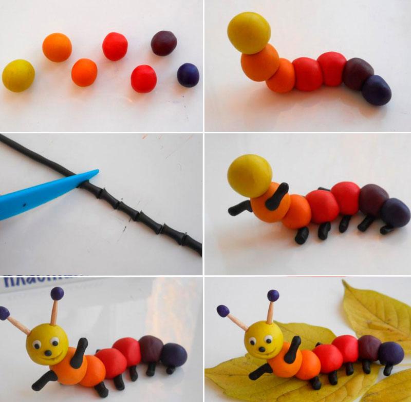 Идеи для поделок из пластилина для детей 4 лет