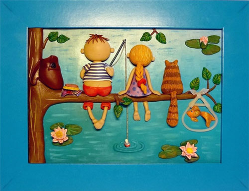красивые идеи поделок для детей: панно