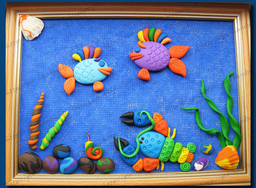 идеи панно из пластилина для детей