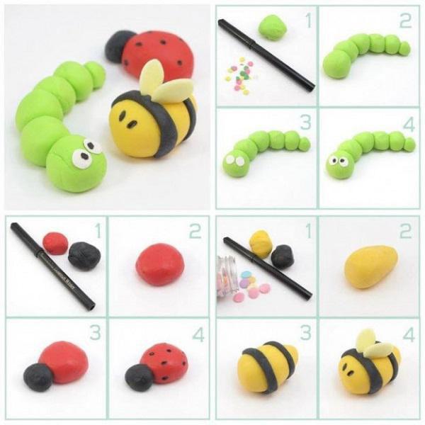 Идеи для поделок из пластилина для детей 3 лет