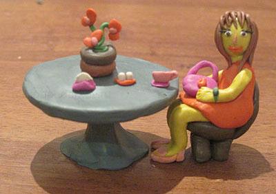 идеи поделок из пластилина для девочек 8 лет