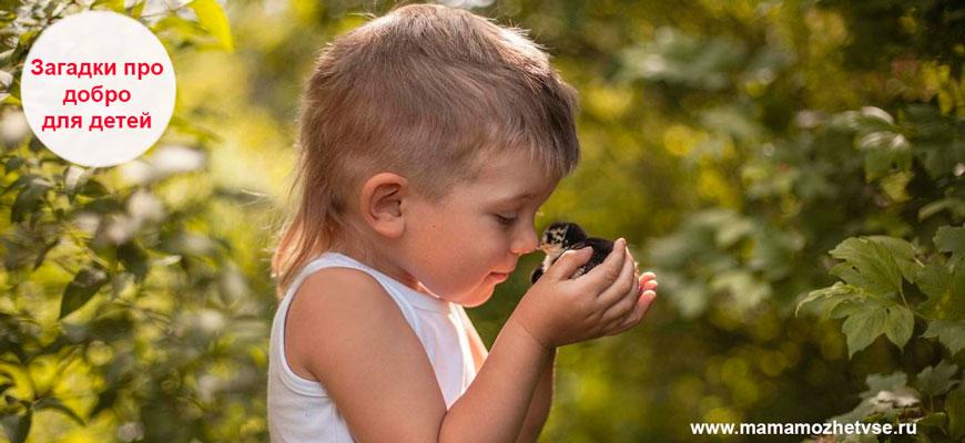 Загадки про добро для детей