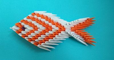 Поделки из бумаги Поделки из бумаги для детей без клея модульного оригами