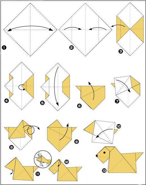 Поделки из бумаги для детей в технике оригами