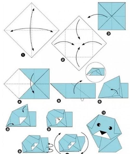 Поделки из бумаги для детей без клея собачка
