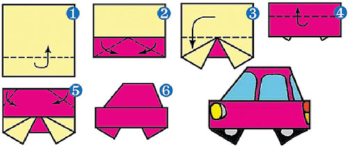 схема машина оригами