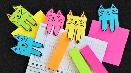 закладки из бумаги для детей
