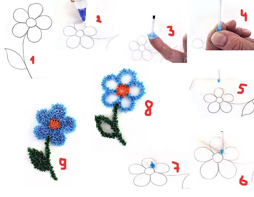 детские поделки из бумаги методом торцевания
