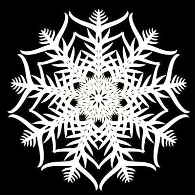 Поделки снежинки из бумаги без клея 1