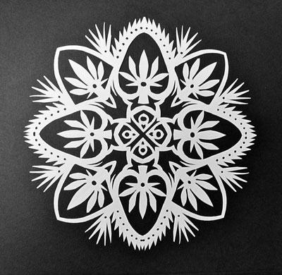 Поделки снежинки из бумаги без клея 2