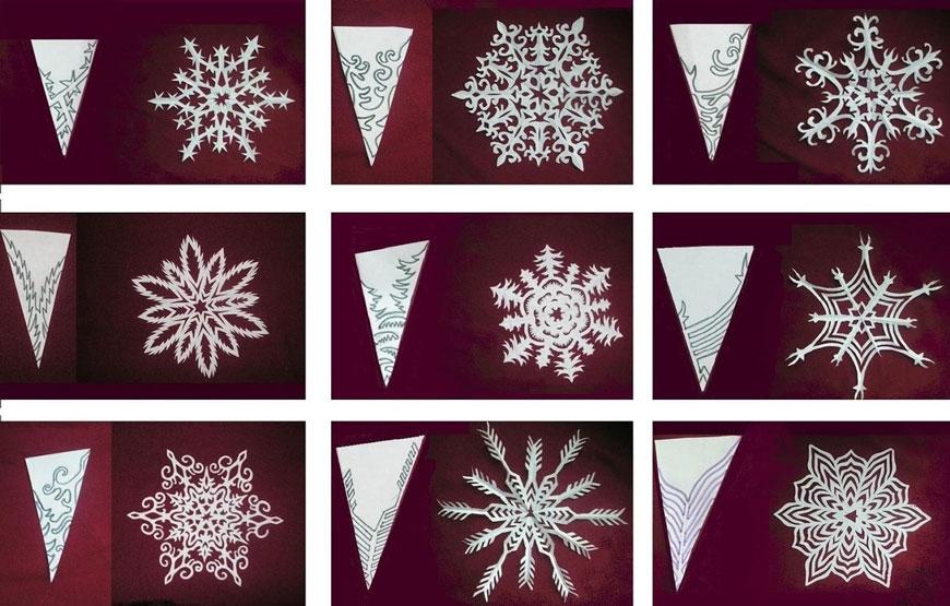 Поделки снежинки из бумаги без клея 4