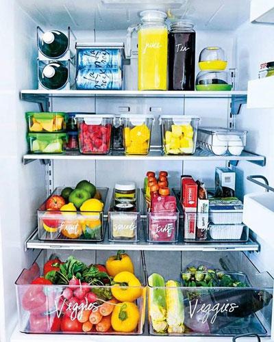 фото порядка в холодильнике
